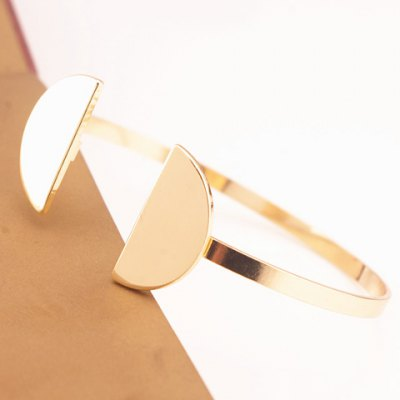 Fashionable Solid Color Semicircle Shape Cuff Bracelet For Women