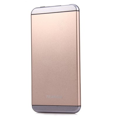 Trangu V13 6000mAh Mobile Power Bank Ultra-thinPower Banks<br>Trangu V13 6000mAh Mobile Power Bank Ultra-thin<br><br>Type: Portable Mobile Powers<br>Model: V13<br>Compatibility  : Universal, Universal<br>Capacity (mAh): 6000mAh<br>Special Functions: Super Slim, Unbreak, Lightweight, With battery indicator light<br>Connection Type: One USB Output Interface, Micro USB<br>Battery type: Li-ion Battery<br>Color: Gold, Silver<br>Material: Aluminium Alloy<br>Input: 4.8V - 5.4V / 1A<br>Output: 5V / 2A<br>Product weight: 0.134 kg<br>Package weight: 0.308 kg<br>Product size (L x W x H) : 13.5 x 6.8 x 0.7 cm / 5.31 x 2.67 x 0.28 inches<br>Package size (L x W x H): 19.5 x 9.4 x 2.6 cm / 7.66 x 3.69 x 1.02 inches<br>Package Contents : 1 x Mobile Power Bank, 1 x USB Cable, 1 x Chinese and English User Manual