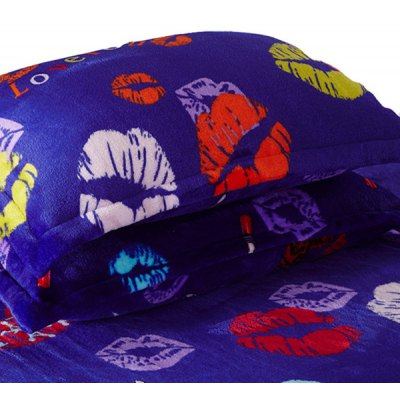 A Pair of Quality Lips Pattern Polyester Pillow Case(Without Pillow Inner)