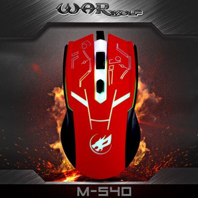 Warwolf M-540 4D Wired USB 2.0 Gaming Mouse