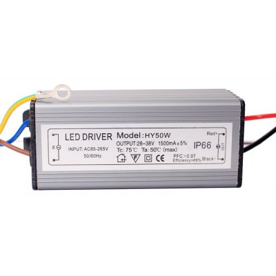 HY 50W 10 Series 5 Parallels Waterproof LED Driver