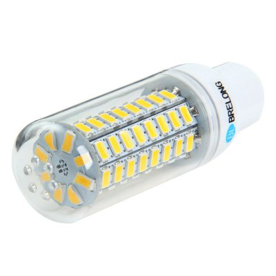 5 x BRELONG GU10 12W 1200Lm SMD 5730 LED Corn Light LampLED Light Bulbs<br>5 x BRELONG GU10 12W 1200Lm SMD 5730 LED Corn Light Lamp<br><br>Brand : BRELONG<br>Holder: G9, B22, E27, E14, GU10<br>Type: Corn Bulbs<br>Output Power: 12W<br>Emitter Types: SMD 5730<br>Total Emitters: 72<br>Luminous Flux: 1200Lm<br>CCT/Wavelength: 3000-3500K, 6000-6500K<br>Voltage (V): AC 220-240<br>Features: Long Life Expectancy, Energy Saving<br>Function: Home Lighting, Commercial Lighting, Studio and Exhibition Lighting<br>Available Light Color: White, Warm White<br>Sheathing Material: Plastic<br>Product Weight: 0.032 kg<br>Package Weight: 0.240 kg<br>Product Size (L x W x H): 10 x 3 x 3 cm / 3.93 x 1.18 x 1.18 inches<br>Package Size (L x W x H): 11.5 x 13.5 x 9 cm / 4.52 x 5.31 x 3.54 inches<br>Package Contents: 5 x BRELONG LED Corn Bulb