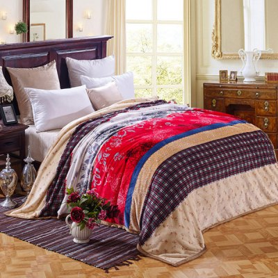 Quality Colorful Striped Pattern Household Flannel Blanket