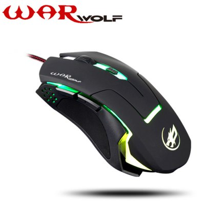 Warwolf - Warwolf T5 6D Wired USB 2.0 Gaming Mouse
