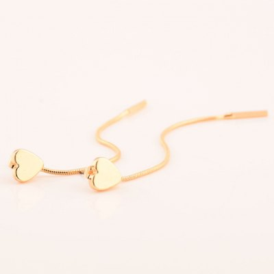 Pair of Trendy Matte Heart Tassel Earrings For WomenEarrings<br>Pair of Trendy Matte Heart Tassel Earrings For Women<br><br>Earring Type: Drop Earrings<br>Gender: For Women<br>Style: Trendy<br>Shape/Pattern: Heart<br>Length: 8CM<br>Weight: 0.05KG<br>Package Contents: 1 x Earring (Pair)