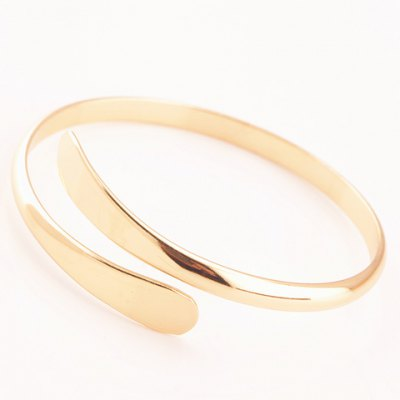 Fashionable Solid Color Mirror Side Cuff Bracelet For Women