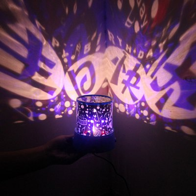 LED Star Projector Lamp with Happy Birthday