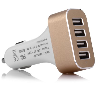 XBX017P 4 USB Port Car Charger Adapter