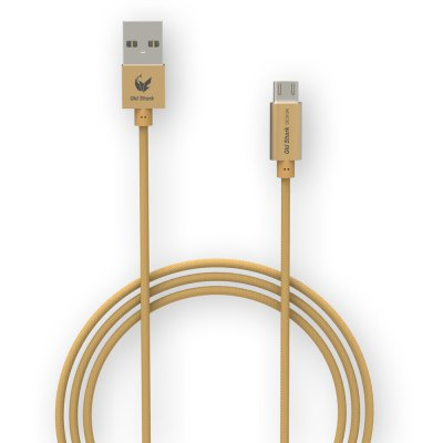 Old Shark 1m Micro USB Charge Sync Braided Cable