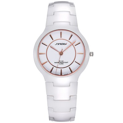 SINOBI 2687 Ultra-thin Ceramic Men Quartz Watch - SinobiMens Watches<br>SINOBI 2687 Ultra-thin Ceramic Men Quartz Watch<br><br>Brand: Sinobi<br>Watches categories: Male table<br>Watch style: Business<br>Watch color: Black, White, Black and Gold, White and Gold<br>Movement type: Quartz watch<br>Shape of the dial: Round<br>Display type: Analog<br>Case material: Ceramic<br>Band material: Ceramic<br>Clasp type: Butterfly clasp<br>Water resistance: 50 meters<br>The dial thickness: 0.8 cm / 0.31 inches<br>The dial diameter: 3.8 cm / 1.49 incdes<br>The band width: 1.8 cm / 0.71inches<br>Product weight: 0.090 kg<br>Package weight: 0.14 kg<br>Product size (L x W x H): 23.8 x 3.8 x 0.8 cm / 9.35 x 1.49 x 0.31 inches<br>Package size (L x W x H): 24.8 x 4.8 x 1.8 cm / 9.75 x 1.89 x 0.71 inches<br>Package contents: 1 x SINOBI 2687 Watch