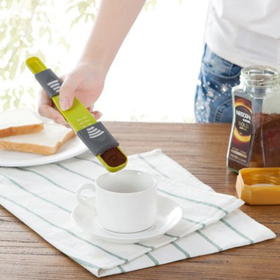 Adjustable Measuring Spoon CupKitchen &amp; Dining<br>Adjustable Measuring Spoon Cup<br><br>Type: Measuring Spoon Cup<br>For: Kitchen, Home, etc.<br>Material: ABS<br>Product weight   : 0.033 kg<br>Package weight   : 0.070 kg<br>Product size (L x W x H)   : 21.5 x 3.7 x 2.3 cm / 8.45 x 1.45 x 0.90 inches<br>Package size (L x W x H)  : 22.5 x 4.7 x 3.3 cm / 8.84 x 1.85 x 1.30 inches<br>Package Contents: 1 x Measuring Spoon Cup