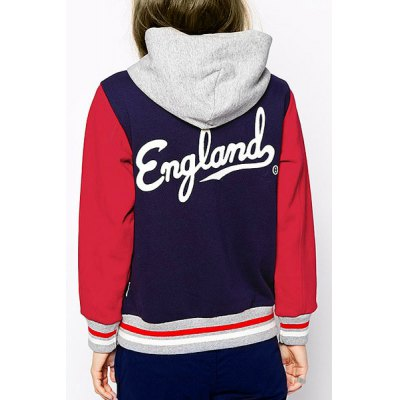 Chic Womens Letter Hooded Long Sleeve Baseball JacketWomens Hoodies &amp; Sweatshirts<br>Chic Womens Letter Hooded Long Sleeve Baseball Jacket<br><br>Clothes Type: Jackets<br>Material: Polyester<br>Type: Slim<br>Clothing Length: Regular<br>Sleeve Length: Full<br>Collar: Hooded<br>Pattern Type: Print<br>Embellishment: Button<br>Style: Fashion<br>Season: Fall, Spring<br>Weight: 0.57KG<br>Package Contents: 1 x Coat