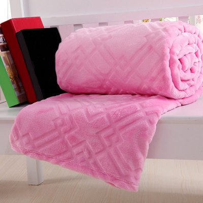 Quality Solid Color Super Soft Warm Polyester Pink Blanket