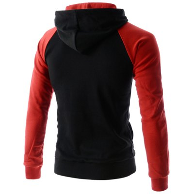 Splicing Design Hooded Letters Print Long Sleeve Mens HoodieMens Hoodies &amp; Sweatshirts<br>Splicing Design Hooded Letters Print Long Sleeve Mens Hoodie<br><br>Material: Polyester, Cotton<br>Clothing Length: Regular<br>Sleeve Length: Full<br>Style: Fashion<br>Weight: 0.370KG<br>Package Contents: 1 x Hoodie