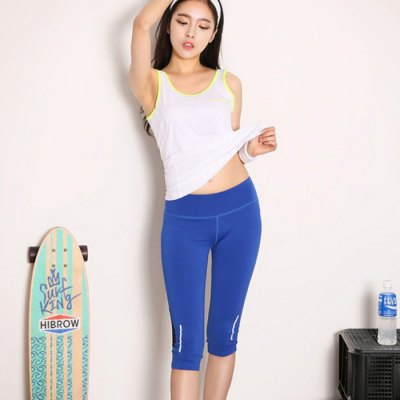 Aeropus Women Fitness Yoga Pants Cropped TrousersYoga<br>Aeropus Women Fitness Yoga Pants Cropped Trousers<br><br>Brand: Aeropus<br>Type: Cropped Trousers<br>Gender: Female<br>Closure Type: Elastic Waist<br>Size: S, M, L<br>Material: Spandex, Polyester<br>Color: Black, Blue, Grey<br>Product Weight: 0.180 kg<br>Package Weight: 0.220 kg<br>Package Size: 21 x 20 x 2 cm / 8.25 x 7.86 x 0.79 inches<br>Package Content: 1 x Yoga Pants