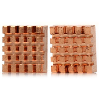 Creative Mini Red Copper Cooling Heatsinks Works with Raspberry Pi B+  -  2PCS