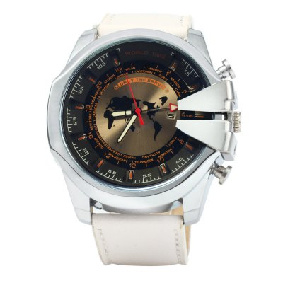 Jubaoli Men Quartz Watch with Map Pattern Leather StrapMens Watches<br>Jubaoli Men Quartz Watch with Map Pattern Leather Strap<br><br>Brand: Jubaoli<br>Watches categories: Male table<br>Watch style: Fashion<br>Available color: Red, Blue, Black, White<br>Movement type: Quartz watch<br>Shape of the dial: Round<br>Display type: Analog<br>Case material: Stainless steel<br>Band material: Leather<br>Clasp type: Pin buckle<br>Special features: Date<br>The dial thickness: 1.1 cm / 0.43 inches<br>The dial diameter: 5.1 cm / 2 inches<br>The band width: 2.5 cm / 0.98 inches<br>Wearable length: 18 - 22.5 cm / 7.09 - 8.86 inches<br>Product weight: 0.082 kg<br>Package weight: 0.132 kg<br>Product size (L x W x H): 26 x 5.1 x 1.1 cm / 10.22 x 2.00 x 0.43 inches<br>Package size (L x W x H): 27 x 6.1 x 2.1 cm / 10.61 x 2.40 x 0.83 inches<br>Package contents: 1 x Jubaoli Watch
