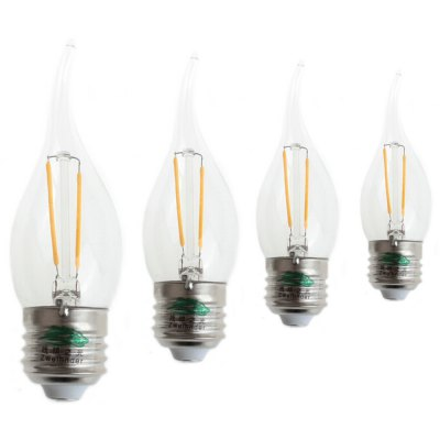4PCS Zweihnder E27 2W 200LM LED Filament Bulb