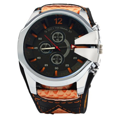 Genenva Men Quartz Watch with Date FunctionMens Watches<br>Genenva Men Quartz Watch with Date Function<br><br>Brand: Geneva<br>Watches categories: Male table<br>Watch style: Fashion<br>Style elements: Big dial<br>Available color: Red, Blue, Orange, Black, White<br>Movement type: Quartz watch<br>Shape of the dial: Round<br>Display type: Analog<br>Case material: Stainless steel<br>Band material: Canvas + Leather<br>Clasp type: Pin buckle<br>Special features: Date, Decorating small sub-dials<br>The dial thickness: 1.2 cm / 0.47 inches<br>The dial diameter: 5.2 cm / 2.04 inches<br>The band width: 3.0 cm / 1.18 inches<br>Wearable length: 17 - 21 cm / 6.69 - 8.27 inches<br>Product weight: 0.089 kg<br>Package weight: 0.139 kg<br>Product size (L x W x H): 24 x 5.2 x 1.2 cm / 9.43 x 2.04 x 0.47 inches<br>Package size (L x W x H): 25 x 6.2 x 2.2 cm / 9.83 x 2.44 x 0.86 inches<br>Package contents: 1 x Genenva Watch