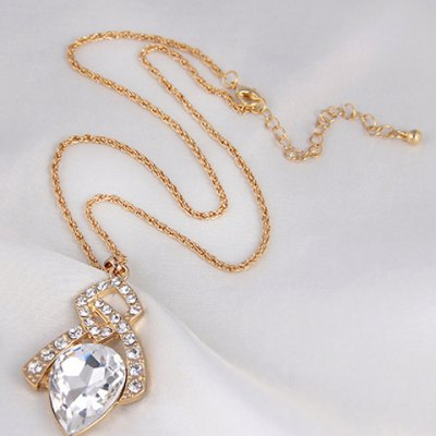A Suit of Graceful Faux Crystal Hollow Out Necklace and Earrings For WomenNecklaces &amp; Pendants<br>A Suit of Graceful Faux Crystal Hollow Out Necklace and Earrings For Women<br><br>Item Type: Pendant Necklace<br>Gender: For Women<br>Style: Trendy<br>Shape/Pattern: Others<br>Weight: 0.050KG<br>Package Contents: 1 x Necklace 1 x Earring(Pair)