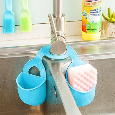 Double Sink Faucet Hanging Storage Basket