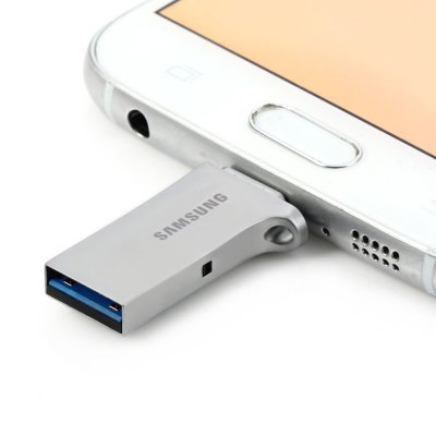 Samsung 2 in 1 32GB OTG USB 3.0 Flash DriveUSB Flash Drives<br>Samsung 2 in 1 32GB OTG USB 3.0 Flash Drive<br><br>Brand: Samsung<br>Capacity: 32G<br>Type: USB Stick<br>Features: Metal, Dustproof, Shockproof, Waterproof<br>Available Color: Gray<br>Style: Stylish<br>Interface: USB 3.0<br>Transmission Speed: 130MB/s<br>Operation system: Window Vista, Windows 7, Windows 8, Window XP / 2000 / ME<br>Certificate: CE, FCC<br>Product Weight: 0.005 kg<br>Package Weight: 0.023 kg<br>Product Size (L x W x H): 3.8 x 1.7 x 0.7 cm / 1.49 x 0.67 x 0.28 inches<br>Package Size (L x W x H): 15.4 x 10.3 x 1.7 cm / 6.05 x 4.05 x 0.67 inches<br>Package Contents: 1 x Samsung 2 in 1 32GB OTG USB 3.0 Flash Drive