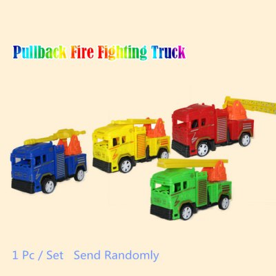 Electronic Pullback Fire Truck