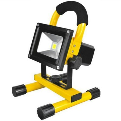 10W 3000K 800LM COB Portable LED Flood LightOutdoor Lights<br>10W 3000K 800LM COB Portable LED Flood Light<br><br>Type: Floodlight<br>Output Power: 10W<br>Emitter Types: COB<br>Total Emitters: 1<br>Luminous Flux: 800Lm<br>CCT/Wavelength: 3000K<br>Plug: US Plug, EU Plug<br>Voltage (V): AC 100-240<br>Angle: 120 degree<br>Lifespan: 50000h<br>Features: 80% Brightness, Long Life Expectancy, Low Power Consumption, IP-65 Waterproof Standard<br>Function: Studio and Exhibition Lighting, Outdoor Lighting, Commercial Lighting<br>Available Light Color: Warm White<br>Sheathing Material: Die-casting Aluminum, Tempered Glass<br>Certifications: RoHS, CE<br>Product Weight: 1.060 kg<br>Package Weight: 1.2 kg<br>Product Size (L x W x H): 19.5 x 19 x 15 cm / 7.66 x 7.47 x 5.90 inches<br>Package Size (L x W x H): 20.5 x 20 x 17.5 cm / 8.06 x 7.86 x 6.88 inches<br>Package Contents: 1 x LED Flood Light, 1 x AC Adapter, 1 x Car Charger