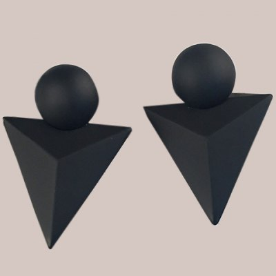Pair of Stylish Triangle Shape Earrings For Women