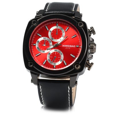 Shiweibao J1112 Men Quartz Watch Leather Band WristwatchMens Watches<br>Shiweibao J1112 Men Quartz Watch Leather Band Wristwatch<br><br>Brand: Shiweibao<br>Watches categories: Male table<br>Watch style: Fashion<br>Available color: Brown, Black, White, Red, Purple<br>Movement type: Quartz watch<br>Shape of the dial: Round<br>Display type: Analog<br>Case material: Stainless steel<br>Band material: Leather<br>Clasp type: Pin buckle<br>Special features: Decorating small sub-dials<br>The dial thickness: 1.2 cm / 0.47 inches<br>The dial diameter: 4.8 cm / 1.89 inches<br>The band width: 2.0 cm / 0.79 inches<br>Wearable length: 17.5 - 22 cm / 6.89 - 8.66 inches<br>Product weight: 0.083 kg<br>Package weight: 0.133 kg<br>Product size (L x W x H): 26 x 4.8 x 1.2 cm / 10.22 x 1.89 x 0.47 inches<br>Package size (L x W x H): 27 x 5.8 x 2.2 cm / 10.61 x 2.28 x 0.86 inches<br>Package contents: 1 x Shiweibao J1112 Watch