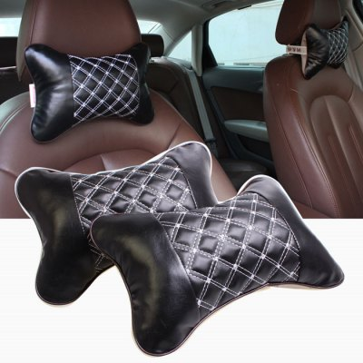 RUNDONG TP-0107 Car Headrest PillowCar Decorations<br>RUNDONG TP-0107 Car Headrest Pillow<br><br>Type: Cushions And Pillows<br>Brand: RUNDONG<br>Model  : TP-0107<br>Material  : Leather, Cotton<br>Adaptable automobile mode : Universal cars<br>Product weight   : 0.120 kg<br>Package weight   : 0.18 kg<br>Product size (L x W x H)  : 26 x 18 x 10 cm / 10.22 x 7.07 x 3.93 inches<br>Package size (L x W x H)  : 31 x 21 x 11 cm / 12.18 x 8.25 x 4.32 inches<br>Package Contents: 1 x RUNDONG TP-0107 Car Headrest Pillow