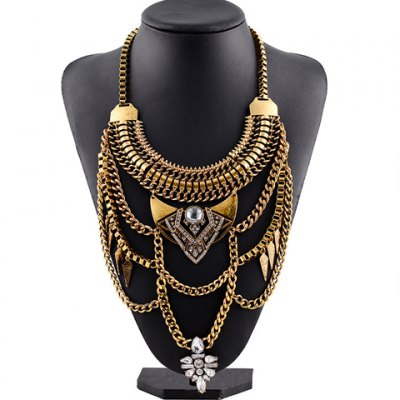 Vintage Rhinestone Faux Crystal Hollow Out Link Chain Pendant Necklace For WomenNecklaces &amp; Pendants<br>Vintage Rhinestone Faux Crystal Hollow Out Link Chain Pendant Necklace For Women<br><br>Item Type: Pendant Necklace<br>Gender: For Women<br>Style: Trendy<br>Shape/Pattern: Others<br>Length: 55CM<br>Weight: 0.27KG<br>Package Contents: 1 x Necklace