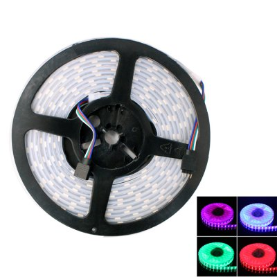 5M 144W SMD 5050 600 LED Waterproof RGB Strip Light with Dual RowsLED Strips<br>5M 144W SMD 5050 600 LED Waterproof RGB Strip Light with Dual Rows<br><br>Type: LED Strip<br>Features: Waterproof, Dual-row, IP-67<br>Length (m): 5m<br>Output Power(W): 144W<br>Number of LEDs: 120 SMD-5050 LED/m<br>Actual Lumen(s): 6000Lm<br>CCT/Wavelength: 465-475nm, 620-630nm, 515-525nm<br>Light Color: RGB<br>Connector Type: 4PIN<br>Voltage (V): DC12<br>Product weight: 0.330 kg<br>Package weight: 0.415 kg<br>Product size (L x W x H): 18 x 18 x 2.2 cm / 7.07 x 7.07 x 0.86 inches<br>Package size (L x W x H): 24.5 x 24 x 3.5 cm / 9.63 x 9.43 x 1.38 inches<br>Package Contents: 1 x LED Light Strip