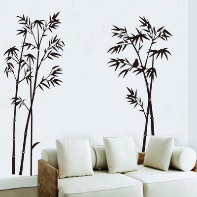 Bird Bamboo Style Removable Wall Sticker