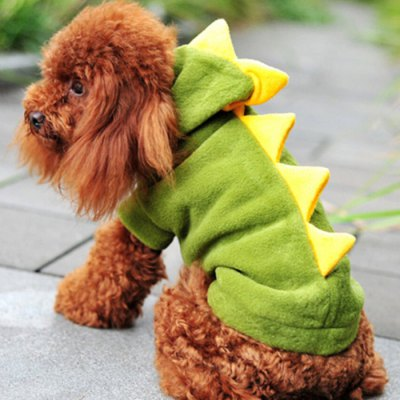 Lovely Dinosaur Style Pet Dog CoatDog Clothing &amp; Shoes<br>Lovely Dinosaur Style Pet Dog Coat<br><br>For: Dogs<br>Type: Cloth<br>Material: Coral Fleece, Coral Fleece<br>Size: XS, M, L, XL, S<br>Season: Winter, Autumn<br>Color: Red, Green<br>Product weight   : 0.110 kg<br>Package weight   : 0.155 kg<br>Package size (L x W x H)  : 26 x 13 x 6 cm / 10.22 x 5.11 x 2.36 inches<br>Package Contents: 1 x Pet Dog Cloth