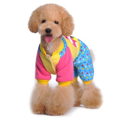 Wave Point Style Four Feet Pet Dog Cotton-padded ClothesDog Clothing &amp; Shoes<br>Wave Point Style Four Feet Pet Dog Cotton-padded Clothes<br><br>For: Dogs<br>Type: Cloth<br>Material: Cotton<br>Size: XXL, XL, L, M, S<br>Season: Winter, Autumn<br>Product weight   : 0.099 kg<br>Package weight   : 0.155 kg<br>Package size (L x W x H)  : 24 x 13 x 7 cm / 9.43 x 5.11 x 2.75 inches<br>Package Contents: 1 x Pet Dog Cloth