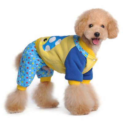 Wave Point Style Four Feet Pet Dog Cotton-padded Clothes