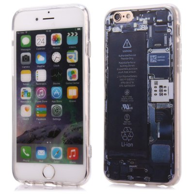 Battery Pattern Protective Back Case for iPhone 6 / 6S