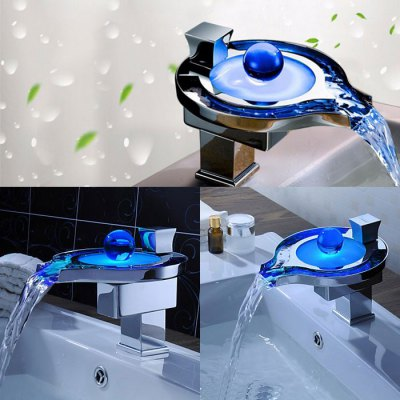 LED001 LED 3 Color Changing Water Power FaucetFaucets<br>LED001 LED 3 Color Changing Water Power Faucet<br><br>Function: Kitchen Faucet, Bathroom Sink Faucets<br>Feature: LED, Waterfall<br>Style: Contemporary<br>Shower Head: Waterfall<br>LED Power Source: Water Flow<br>Number of Handles: Single Handle<br>Valve Type: Ceramic Valve<br>Product weight   : 2.500 kg<br>Package weight   : 3.30 kg<br>Product size (L x W x H)   : 20 x 17 x 16 cm / 7.86 x 6.68 x 6.29 inches<br>Package size (L x W x H)  : 23.5 x 23.5 x 23.5 cm / 9.24 x 9.24 x 9.24 inches<br>Package Contents: 1 x Faucet, 1 x Rubber, 2 x Hose
