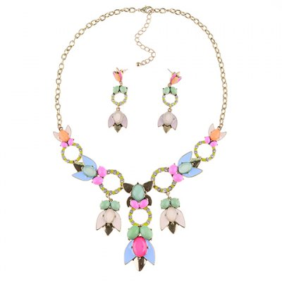 A Suit of Graceful Rhinestone Floral Hollow Out Necklace and Earrings For WomenNecklaces &amp; Pendants<br>A Suit of Graceful Rhinestone Floral Hollow Out Necklace and Earrings For Women<br><br>Item Type: Pendant Necklace<br>Gender: For Women<br>Style: Trendy<br>Shape/Pattern: Floral<br>Length: 60CM (Necklace)/6CM (Earring)<br>Weight: 0.150kg<br>Package Contents: 1 x Necklace 1 x Earring (Pair)