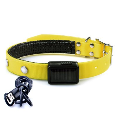 Solar Powered LED Flashing Pet Collar BeltDog Collars &amp; Leads<br>Solar Powered LED Flashing Pet Collar Belt<br><br>For: Cats, Dogs<br>Material: TPU<br>Functions: LED Lights, Adjustable<br>Color: Red, Yellow<br>Product weight   : 0.110 kg<br>Package weight   : 0.170 kg<br>Product size (L x W x H)   : 50 x 2.5 x 0.5 cm / 19.65 x 0.98 x 0.20 inches<br>Package size (L x W x H)  : 29 x 19 x 2 cm / 11.40 x 7.47 x 0.79 inches<br>Package Contents: 1 x Pet Collar Belt, 1 x USB Cable