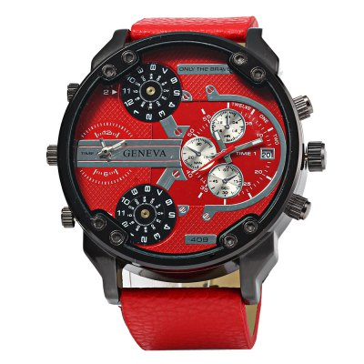 Geneva 409 Male Four Movt Quartz Watch