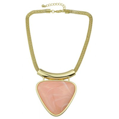 Faux Gemstone Triangle Pendant Necklace