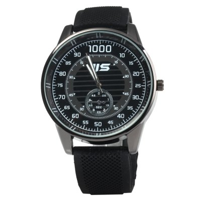 JIS Sports Style Rubber Band Male Quartz WatchMens Watches<br>JIS Sports Style Rubber Band Male Quartz Watch<br><br>Brand: JIS<br>Watches categories: Male table<br>Watch style: Trends in outdoor sports<br>Available color: Black, White<br>Movement type: Quartz watch<br>Shape of the dial: Round<br>Display type: Analog<br>Case material: Stainless steel<br>Band material: Rubber<br>Clasp type: Pin buckle<br>Special features: Decorating small sub-dials<br>The dial thickness: 1.0 cm / 0.39 inches<br>The dial diameter: 5.0 cm / 1.97 inches<br>The band width: 2.8 cm / 1.1 inches<br>Product weight: 0.072 kg<br>Package weight: 0.122 kg<br>Product size (L x W x H): 26 x 5 x 1 cm / 10.22 x 1.97 x 0.39 inches<br>Package size (L x W x H): 27 x 6 x 2 cm / 10.61 x 2.36 x 0.79 inches<br>Package contents: 1 x JIS Watch