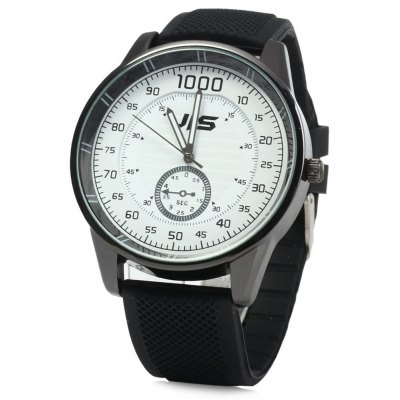 JIS Sports Style Rubber Band Male Quartz Watch