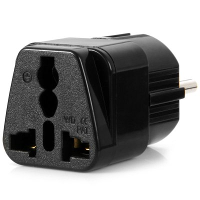 WD-9 EU Plug to Universal US UK AU Socket AdapterPlugs &amp; Sockets<br>WD-9 EU Plug to Universal US UK AU Socket Adapter<br><br>Color: Black,White<br>Identification: CE<br>Material: ABS<br>Model: WD-9<br>Package Contents: 1 x WD-9 EU Plug to Universal US UK AU Socket<br>Package size (L x W x H): 14.3 x 8.8 x 3.6 cm / 5.62 x 3.46 x 1.41 inches<br>Package weight: 0.083 kg<br>Product size (L x W x H): 5.6 x 2.5 x 2.6 cm / 2.20 x 0.98 x 1.02 inches<br>Product weight: 0.041 kg<br>Standard: EU standard
