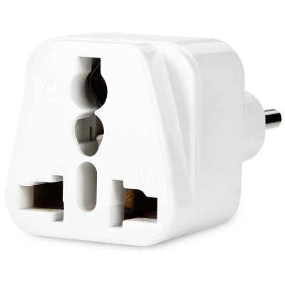 WD12ABK Italy Plug to Universal Socket Adapter