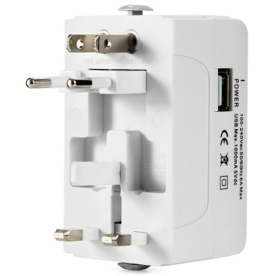 UA933L Universal Travel Converter USB AdapterPlugs &amp; Sockets<br>UA933L Universal Travel Converter USB Adapter<br><br>Model  : UA933L<br>Standard: All in One<br>Material  : ABS<br>Interface: USB 2.0<br>Rate Voltage: 100-240V<br>Input Current: 6A<br>Color  : White<br>Identification : CE<br>Product weight   : 0.112 kg<br>Package weight   : 0.180 kg<br>Product size (L x W x H)  : 8.5 x 4.3 x 5.1 cm / 3.34 x 1.69 x 2.00 inches<br>Package size (L x W x H)  : 9.5 x 5.3 x 8.5 cm / 3.73 x 2.08 x 3.34 inches<br>Package contents: 1 x UA933L Universal Travel Converter USB Adapter, 1 x Bag, 1 x English Manual