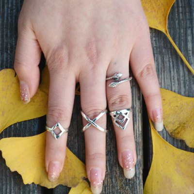 A Suit of Delicate Geometric Solid Color Rings For WomenRings<br>A Suit of Delicate Geometric Solid Color Rings For Women<br><br>Gender: For Women<br>Metal Type: Alloy<br>Style: Trendy<br>Shape/Pattern: Others<br>Diameter: 1.7CM<br>Weight: 0.06KG<br>Package Contents: 1 x Ring(Suit)