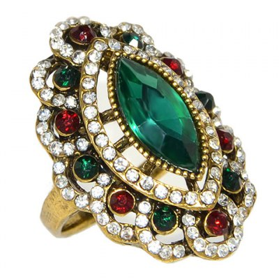 Noble Rhinestoned Floral Shape Ring For WomenRings<br>Noble Rhinestoned Floral Shape Ring For Women<br><br>Gender: For Women<br>Metal Type: Alloy<br>Style: Trendy<br>Shape/Pattern: Floral<br>Diameter: 1.7CM<br>Weight: 0.06KG<br>Package Contents: 1 x Ring